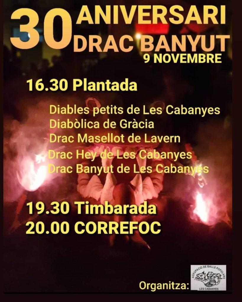 Cartell de la celebració dels 30 anys del Drac Banyut