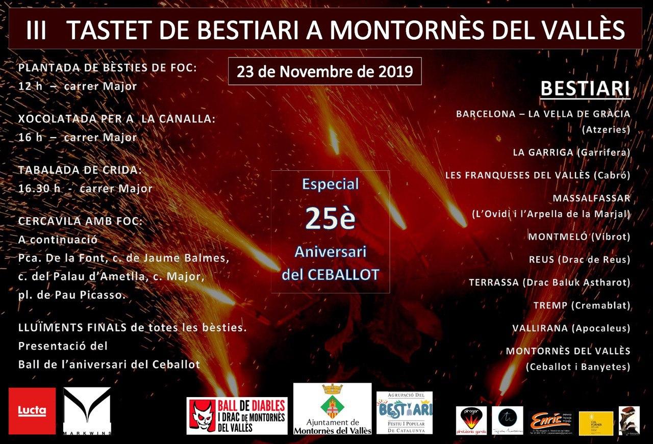 Cartell III Tastet de bestiari de Montornès del Vallès