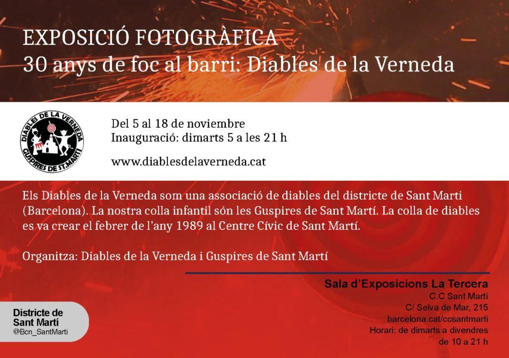 Cartell de la inauguració de l'exposició dels Diables de la Verneda