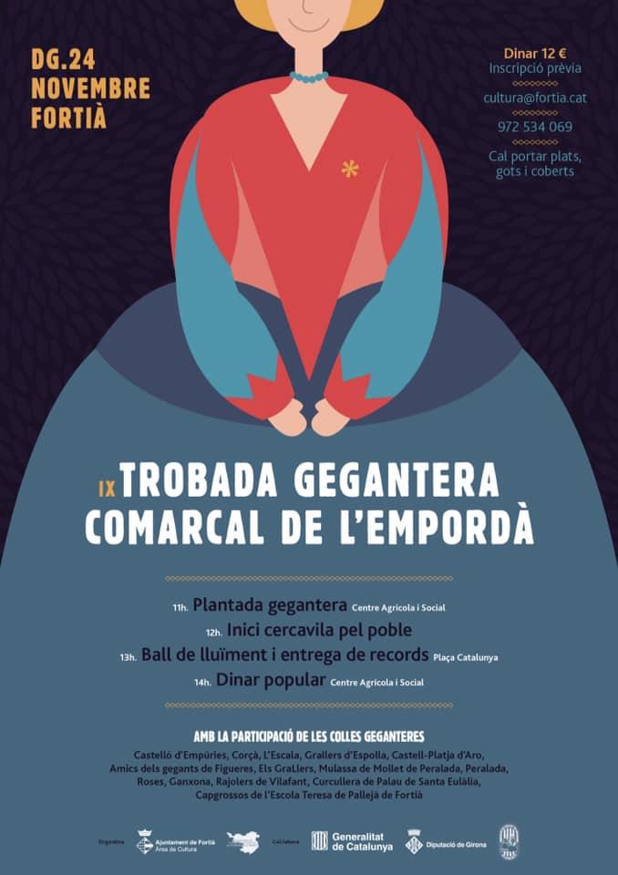 Cartell Trobada gegantera comarcal de l'Empordà