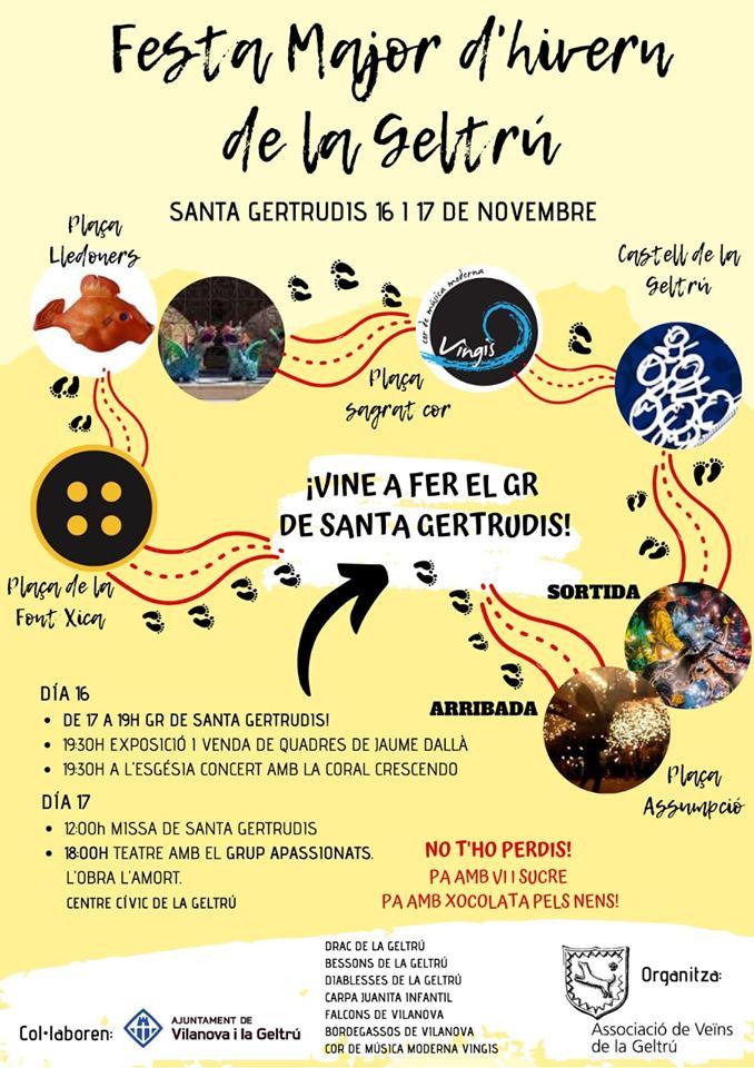 Cartell Festa Major d'hivern de la Geltrú