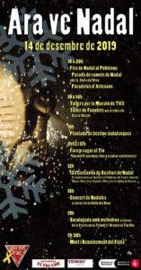 Cartell festa de Nadal del Drac del Poblenou