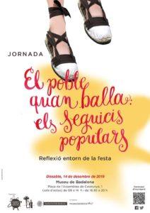 Cartell jornades sobre folklore Badalona