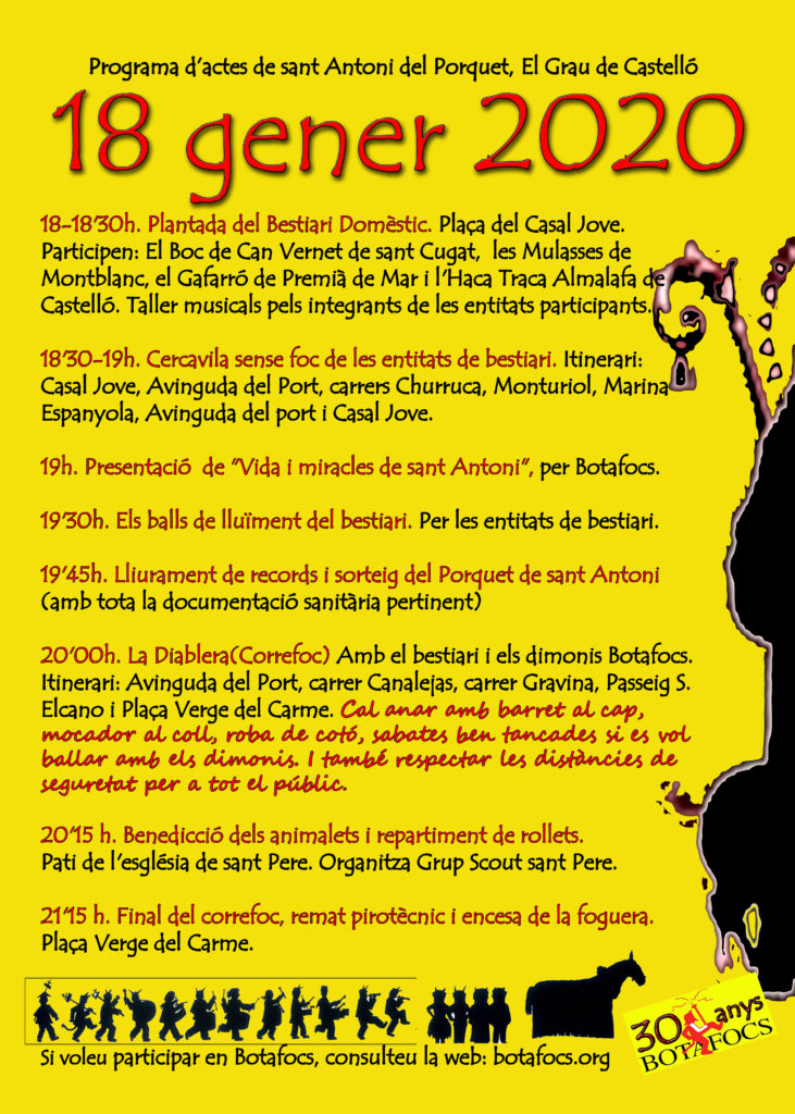 Programa d'actes de Sant Antoni a Castelló