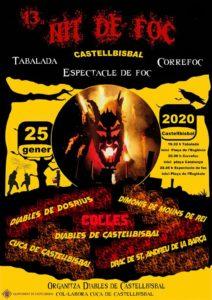 Cartell de la 13a Nit de Foc de Castellbisbal