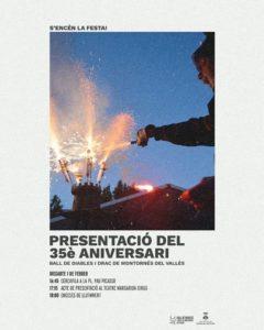Programa de la presentació del 35è aniversari dels Diables i Drac de Montornès del Vallès