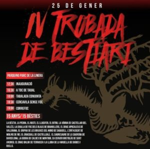 Cartell IV Trobada de Bestiari de Parets del Vallès