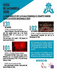 Programa de la Festa de la Candela de Valls