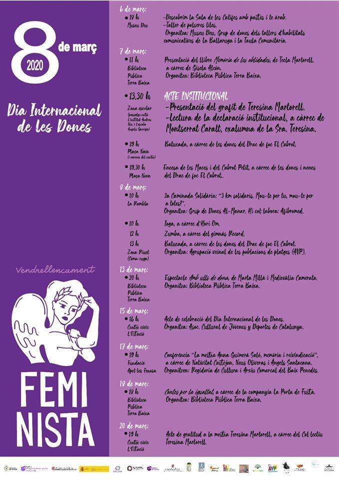 Cartell actes Dia de la Dona del Vendrell