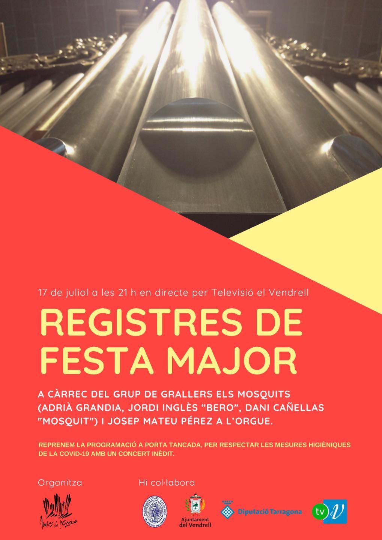 """Cartell del concert """"Registres de Festa Major"""""""
