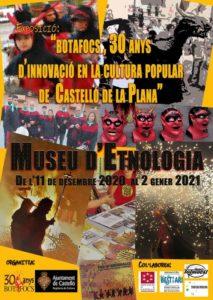 Cartell exposició Botafocs al Museu d'Etnologia de Castelló